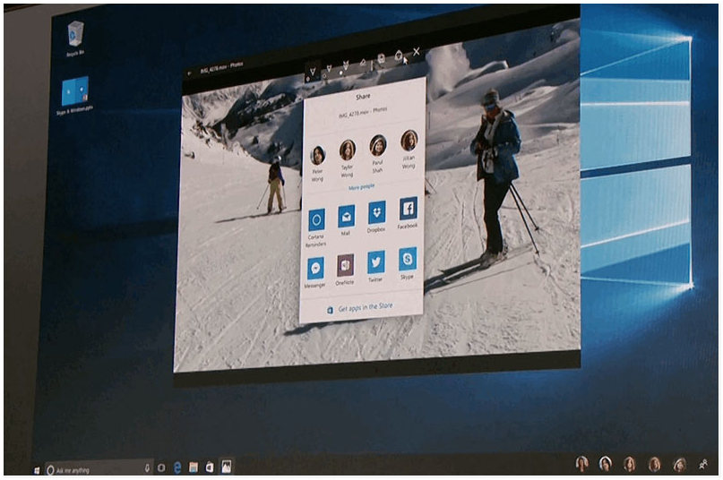 Как в Windows 10 включить новый интерфейс Share UI