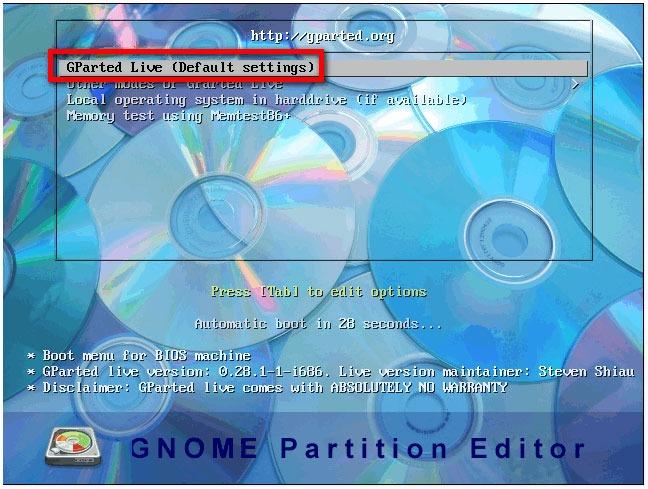 Как разметить диск компьютера на разделы с помощью USB-носителя [GParted]