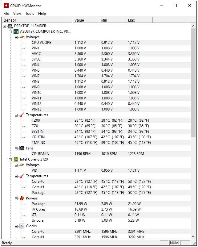 Программа для измерения температуры компонентов компьютера скачать